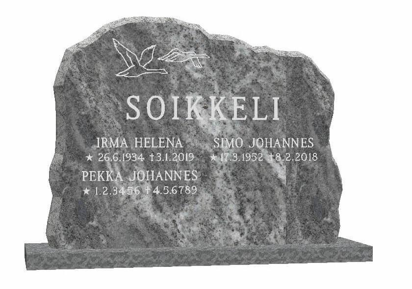 Hautakivi: Luonnollisesti-louhittu-80-x-60-Pohjolan-Loimu