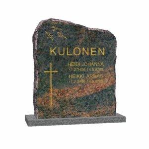 Hautakivi: Pyöreästi-louhittu-60-x-70-Mäntsälän-punainen