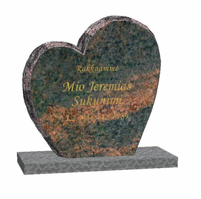 Hautakivi: Ikuinen-rakkaus-Mäntsälän-punainen