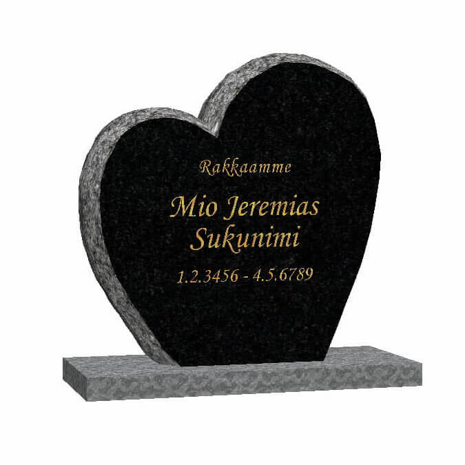 Hautakivi: Ikuinen-rakkaus-musta